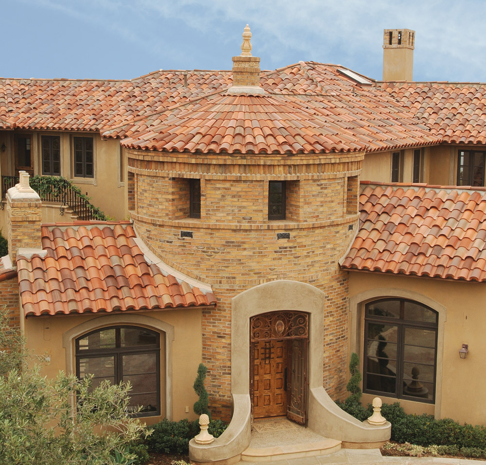image of brink home with clay shingles