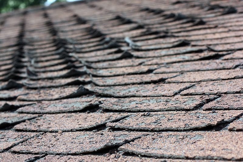 image of shingles that need repair